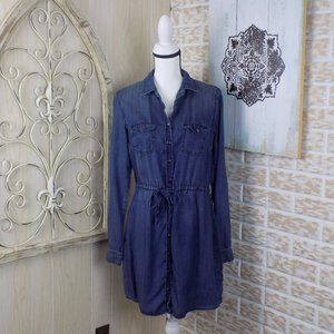 ❤Maurices chambray button down long sleeve dress